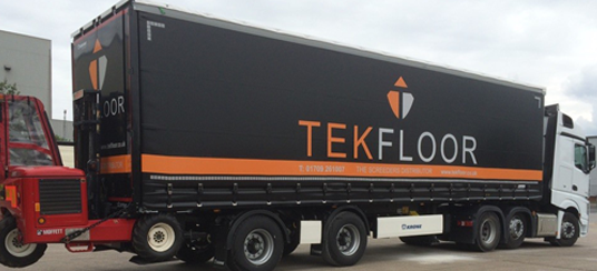 TEKFLOOR has it's own fleet of transport
